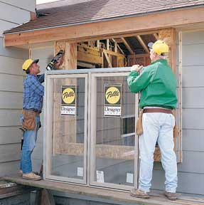 installing clad wood window