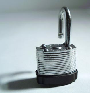 home security alarm systems padlock
