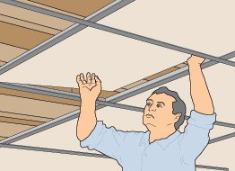 Drop The Ceiling Panels Into The Finished Ceiling Grid.