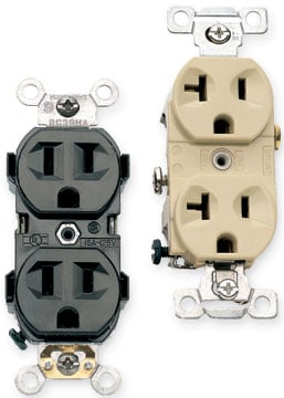 120 volt electrical receptacles