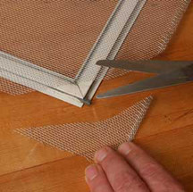 how to install new fly screen mesh