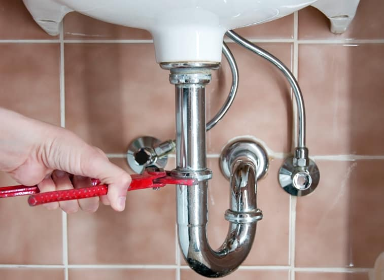 "A sink drain always includes a ""trap"" that fills with water to prevent sewer gasses from rising into the house."
