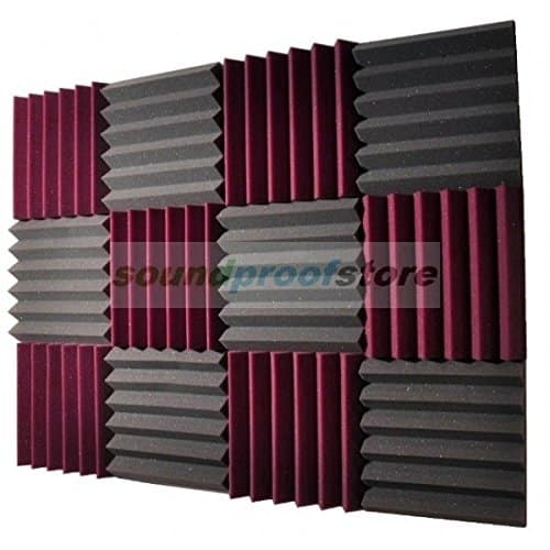 square colored foam soundproofing panels