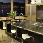 stainless steel metal countertop
