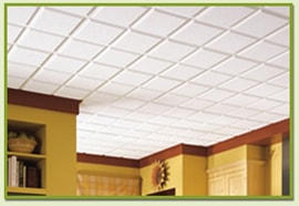 Acoustic ceiling panels dampen sound significantly. Photo: Armstrong