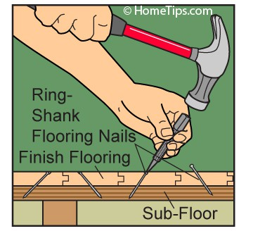 nailing wood flooring