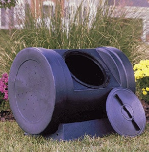 composting container that rolls and tumbles compost