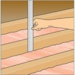 measuring insulation in attic