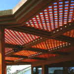 lattice patio overhead