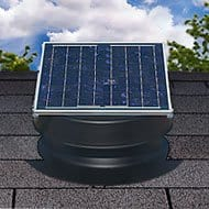 Solar attic fan doesn't require an electrical hookup.
