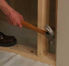 how to build a partition wall with door frame