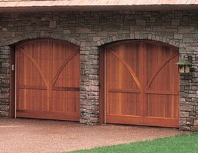 wood carriage garage doors
