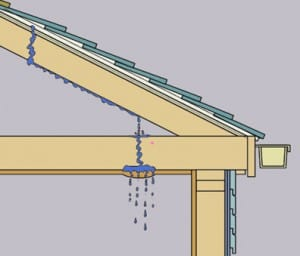 How to inspect your roof - Water leakage from roof ...