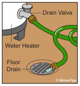 no hot water repair drain valve