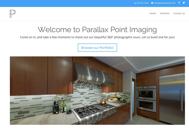 ParallaxPoint.com produces 360-degree virtual reality tours that allow Web visitors to experience custom homes, resorts, schools, and more.