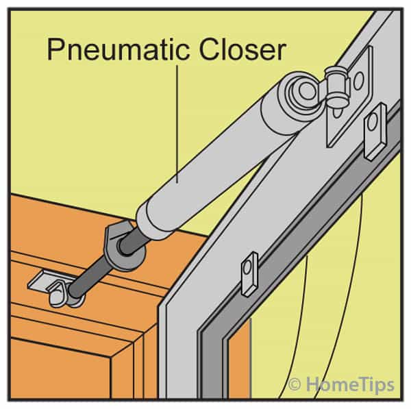 Pneumatic Door Closer Installed