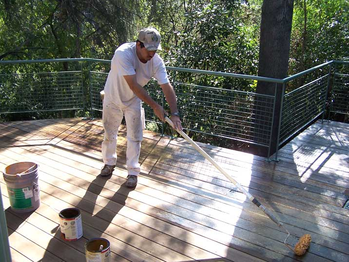 refinish wood deck