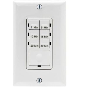 bathroom fan buying guide Bathroom Fan Timer Switch countdown timer for a bath fan can be set to shut off a few minutes after