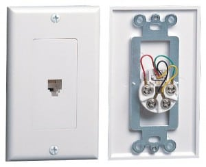 Telephone wallplate-Leviton