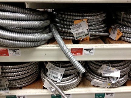 Flexible conduit provides a protective sleeve for electrical wires.