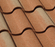 Metal tile roof offers Old World charm. It's lightweight and low maintenance.