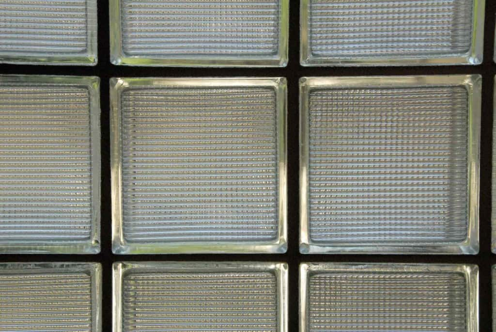 glass block window wall