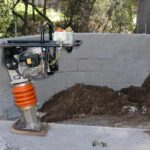 compacting soil and retaining wall