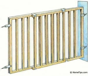 A safety gate should prevent small children from getting to the sop of a staircase.