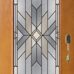 decorative glass front door