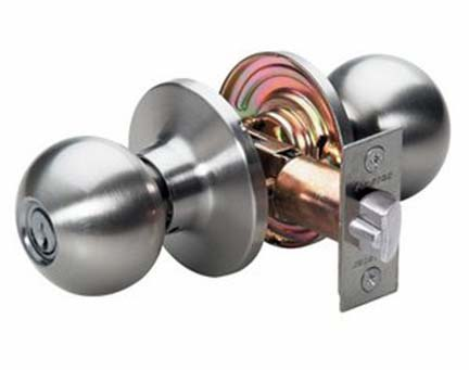door locks. replacing an old cylindrical door knob with a new one is easy job when you locks l