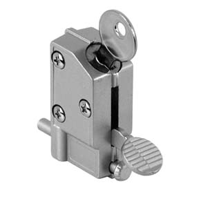 Sliding door lock releases with a kick switch. Photo: Prime Line Products