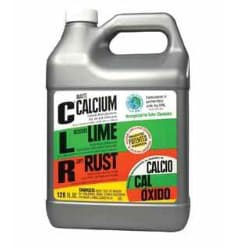 A galloon of CLR calcium, lime, and rust remover.