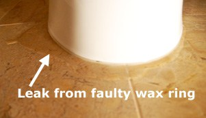 faulty toilet wax ring