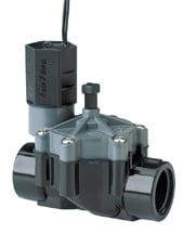 In-line sprinkler valve, for cold climates, is installed in an underground box. Photo: Rain Bird