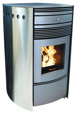 Contemporary pellet stove offers both style and substance. Photo: Bosca