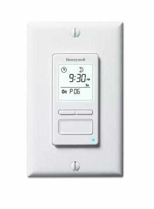 Programmable Light Switch Offers Up To 7 Diffe Settings Plus Manual Override Photo Honeywell