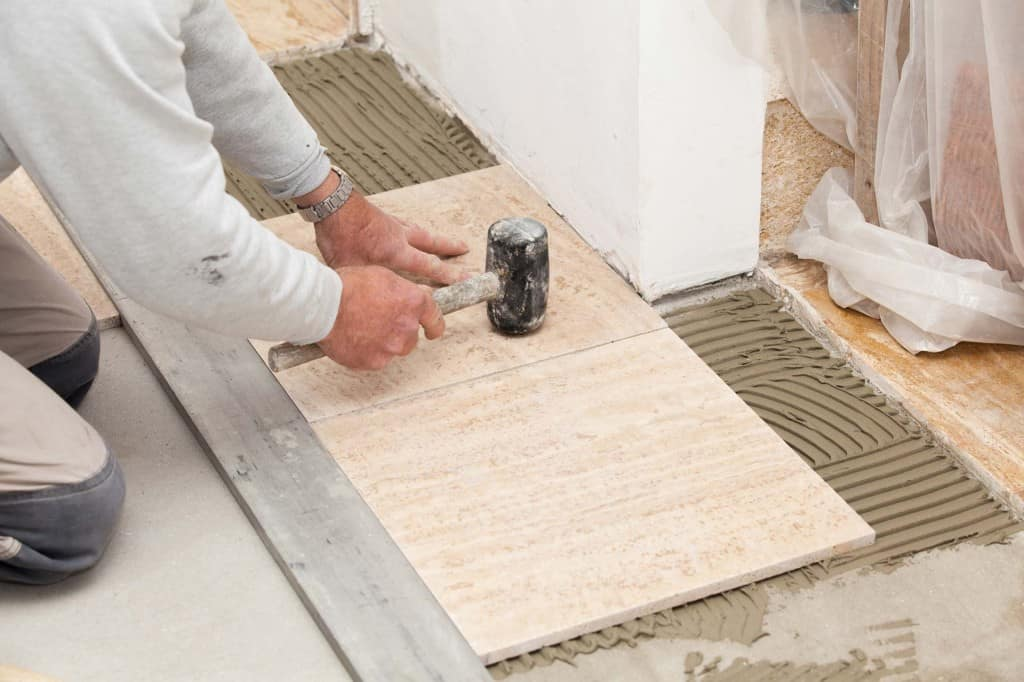Laying a ceramic tile floor for Ceramic floor installation