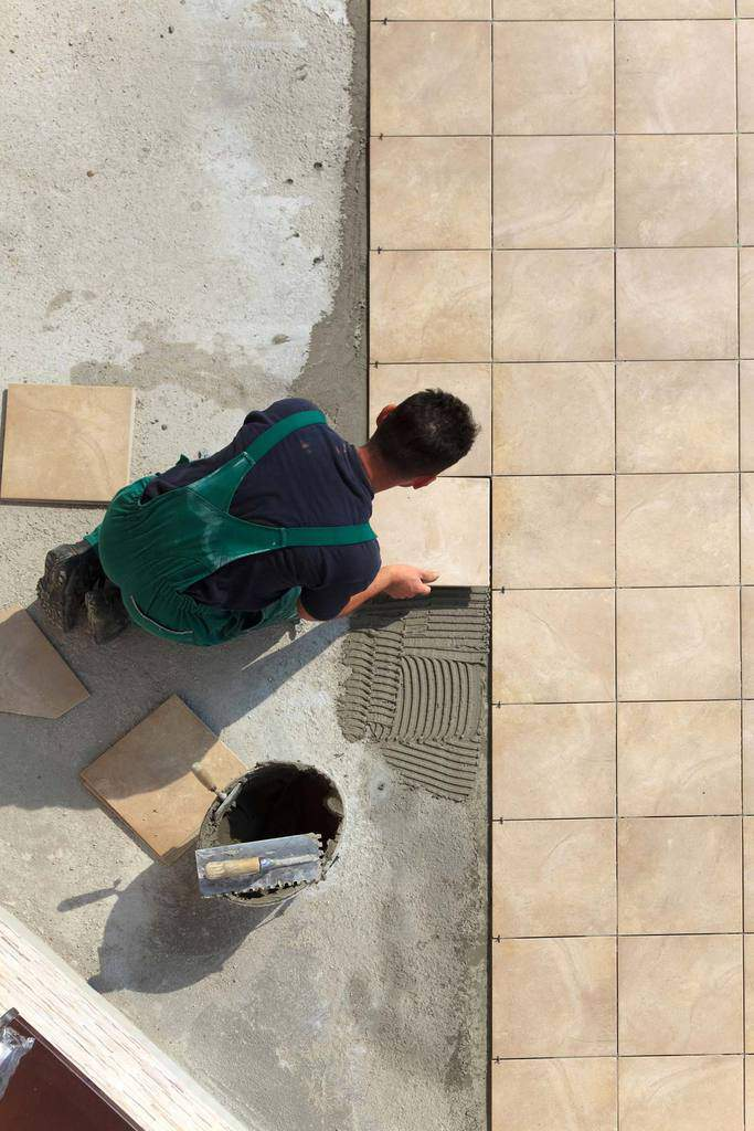 Tile May Be Installed On A Concrete Slab As Shown Here Or