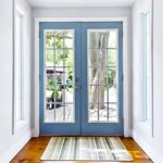 patio doors in hallway