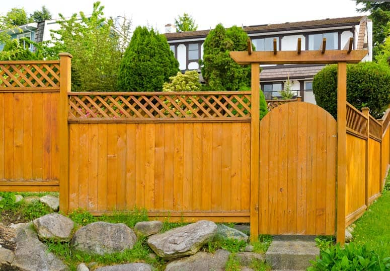 Wood Fence Door Design fence gate with ornamental hardware project 410 traditional How To Plan The Perfect Fence