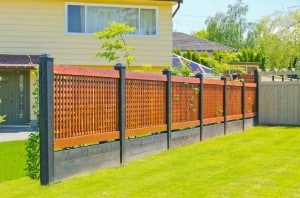 elegant crosshatch wood fencing