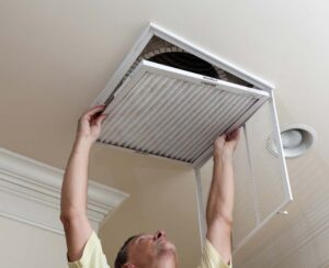 To Replace A Filter Located In Room S Return Air Duct Register