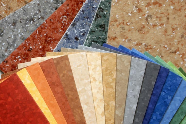 linoleum flooring samples