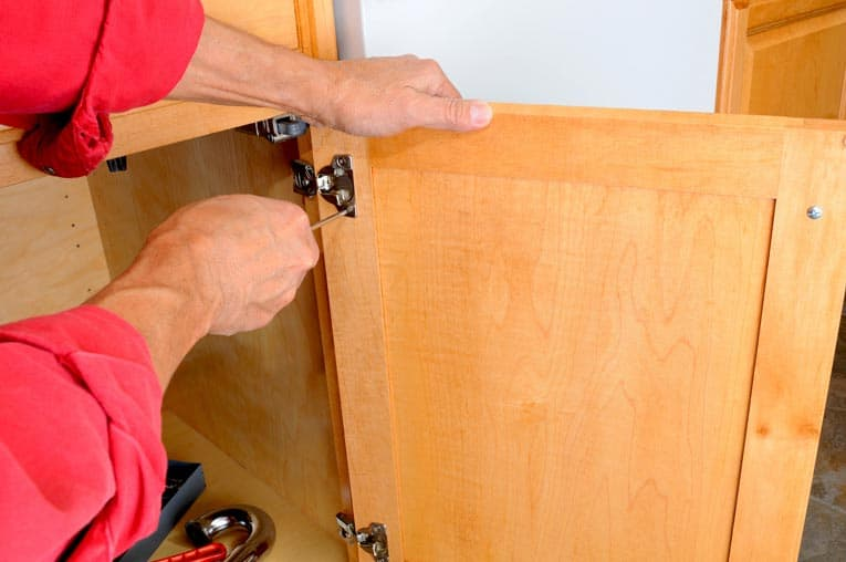 Hinges sometimes need minor adjustment to get doors properly aligned and operating smoothly.