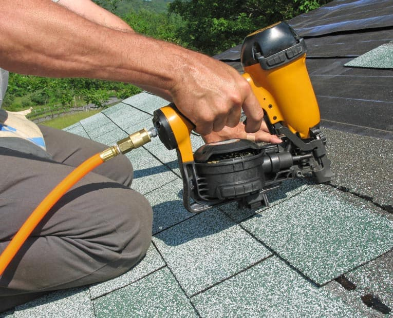 nailing asphalt roof shingles