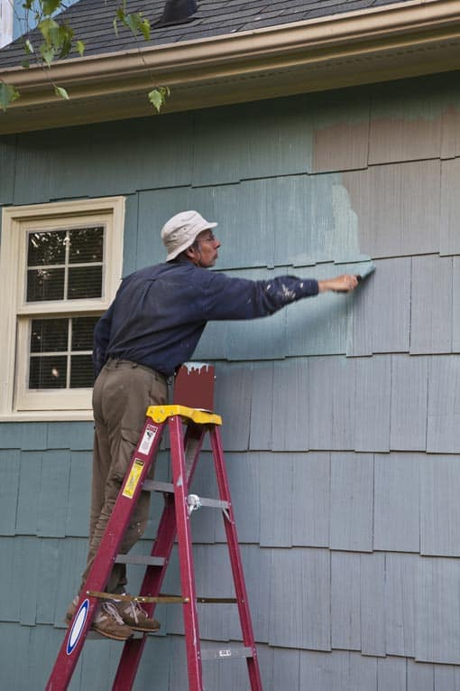 painting wood shingle siding