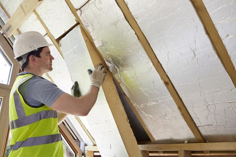 To insulate the roof in a finished attic, foil-faced foam insulation is often the best choice.