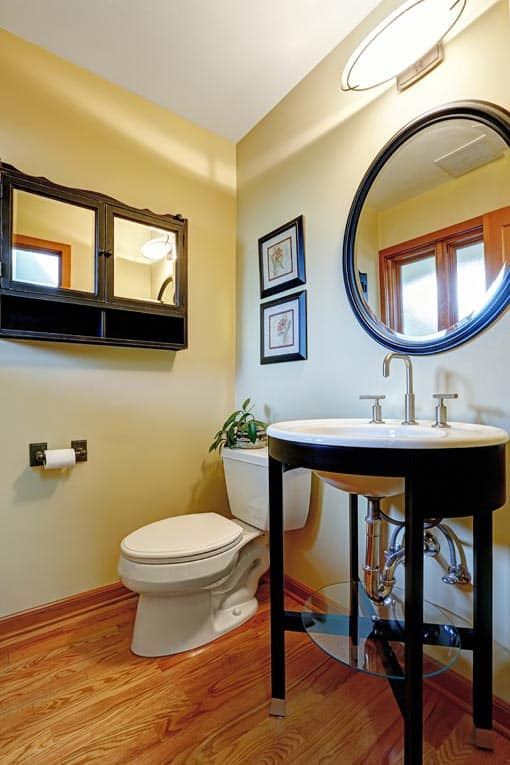 bathroom console vanity