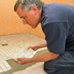 nstalling mosaic shower floor tile