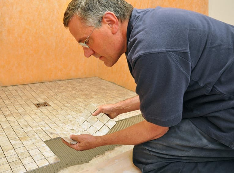 Manufactured Mosaic Tiles Come In Sheets Mounted To A Web Backing